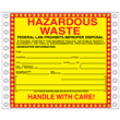 "Hazardous Waste Labels <br/>PVC-free Poly w/perm adhesive, <br/>6"" x 6"", pinfeed, 1,000/bx"