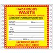 "Improper Disposal w/White Box <br/>PVC-free Poly w/perm adhesive, <br/>6"" x 6"", pinfeed, 1,000/bx"