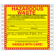 "California Hazardous Waste Label <br/>PVC-free Poly w/perm adhesive, <br/>6"" x 6"", pinfeed, 1,000/bx"