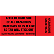 "Regulated <br/>Hazardous Materials Tabs <br/>2"" x 0.75"", 500/roll"