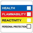"HMIS® Label <br/>with Personal Protection <br/>2"" x 2"", PVC-free Poly, <br/>500/roll"