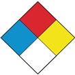 "NFPA® Blank Diamond Label <br/>2"" x 2"", PVC-free Poly, <br/>500/roll"