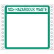 "Blank Non-Hazardous Waste Label <br/>PVC-free Poly w/perm adhesive, <br/>6"" x 6"", pinfeed, 1,000/bx"