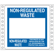 "Blank Non-Regulated Waste Label <br/>PVC-free Poly w/perm adhesive <br/>6"" x 6"", pinfeed, 1,000/bx"
