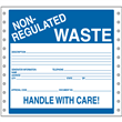 """Non-Regulated Handle w/ Care Label <br/>PVC-free Poly w/perm adhesive <br/>6"""" x 6"""", pinfeed, 1,000/bx"""