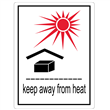 "Keep Away From Heat <br/>3"" x 4.125"" Label <br/>Gloss Paper, 500/roll"