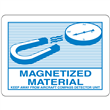 "MAGNETIZED MATERIAL <br/>4.5"" x 3.75"" Label <br/>Gloss Paper, 500/roll"