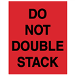 "DO NOT DOUBLE STACK <br/>Red Heavyweight Gloss Paper <br/>3"" x 4.125"" Label, 500/roll"