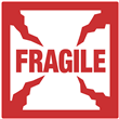 "Fragile Shipping Label <br/>4"" x 4"", Heavyweight Paper <br/>500/roll"