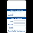 """1.5"""" x 2.5"""" <br />White Preprinted <br />Service Reminder Labels"""