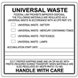 "Universal Waste Label <br/>PVC-free Poly <br/>4"" x 4"", 500/roll"