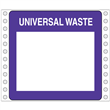 "Blank Universal Waste Label <br/>PVC-free Poly w/perm adhesive <br/>6"" x 6"", pinfeed, 1,000/bx"