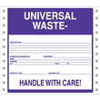 "Universal Waste Handle With Care Label <br/>PVC-free Poly w/perm adhesive <br/>6"" x 6"", pinfeed, 1,000/bx"